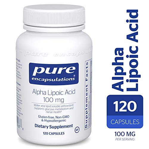 Pure Encapsulations - Alpha Lipoic Acid 100 mg - Hypoallergenic Water- and Lipid-Soluble Antioxidant Supplement - 120 Capsules