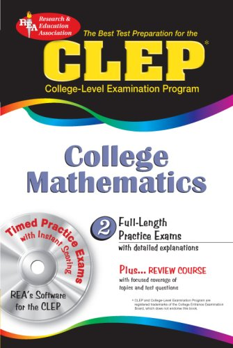 CLEP College Mathematics w/CD-ROM (CLEP Test Preparation)