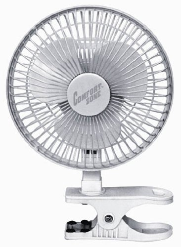 Comfort Zone 6 Inch Clip-On Fan | Great for Table Tops, Night Stands and anywhere you need Light
