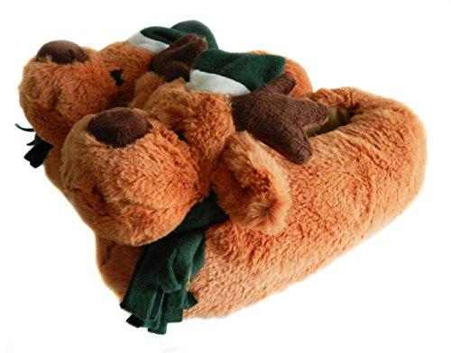 Ciabatte Alce Natale Natalizio Onmygogo Fuzzy Per Uomo E Donna Verde