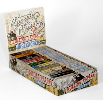 Cheech and Chong Rolling Papers Unbleached with Free BakeBros Sticker