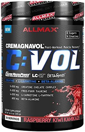 ALLMAX Nutrition CVOL, Post-Workout Muscle-Recovery Complex, Raspberry Kiwi Kamikaze, 375g
