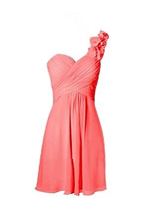 CoutureBridal® Kleid Damen Cocktail Brautjungfer kleid Chiffon ein ...