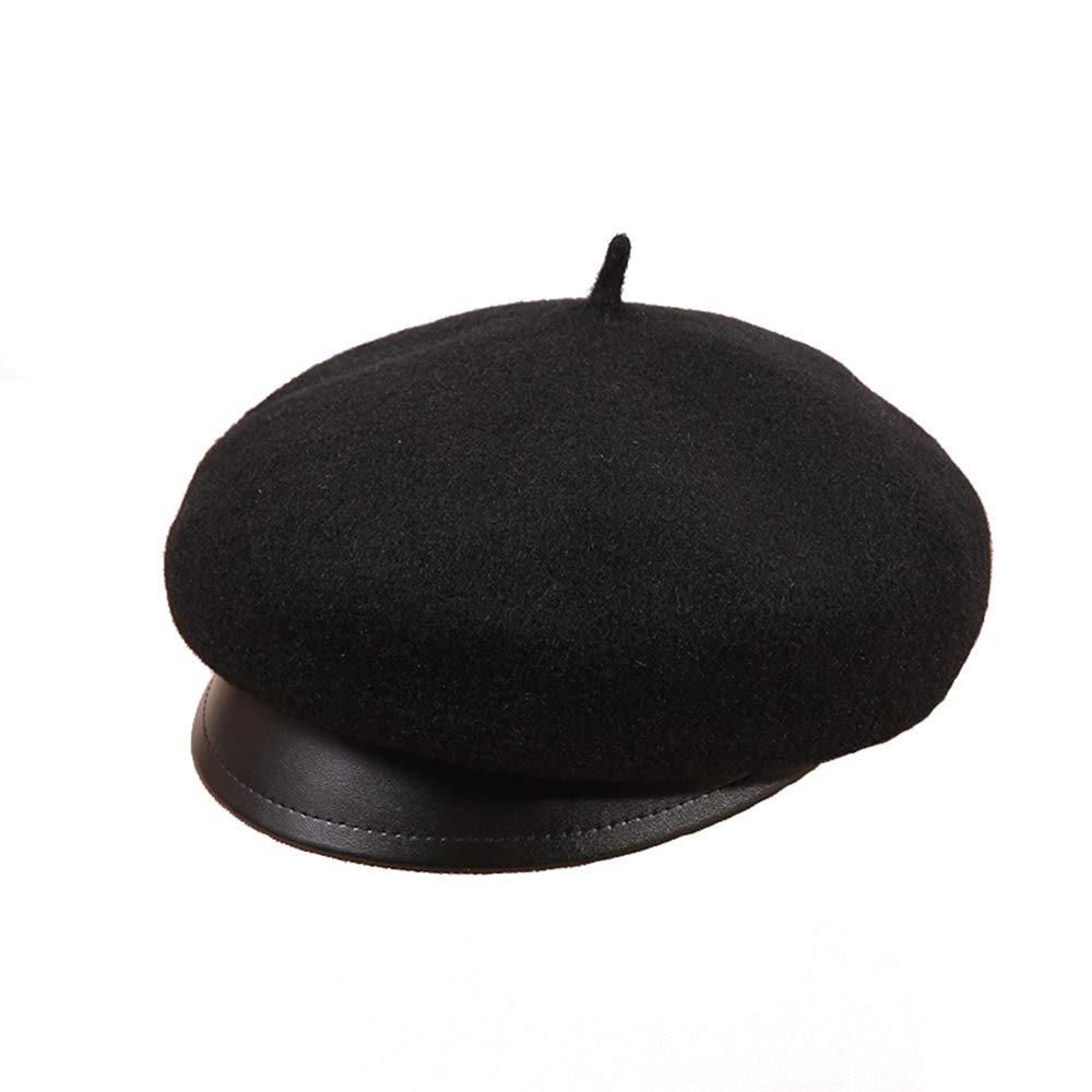 Dig dog bone Women's Beret Hat Wool French Beret Winter Autumn Hat Ladies (Size : M)