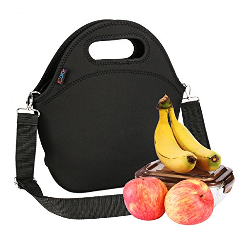 - iColor Neoprene Lunch Bag, removale Shoulder Strap, Thermal Thick Lunch Tote,Large Size[13