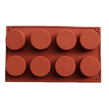 Un molde de 8 columnas de silicona alimentaria para Faire Des bombones caramelos gelées de fruta para hornear antideslizante color se envía al azar: ...