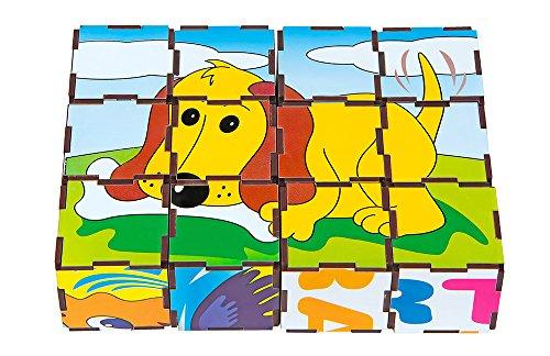 Quebra-Cabeça Cubos Animais Vertebrados Carlu Brinquedos