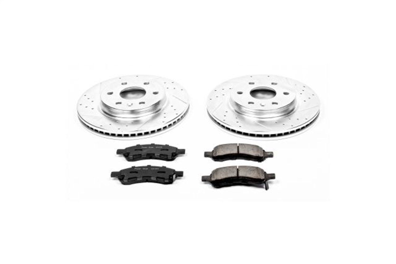 Power Stop K4657 Front Z23 Evolution Brake Kit with Drilled//Slotted Rotors and Ceramic Brake Pads