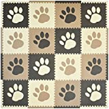 Tadpoles Playmat Set 16-Piece Pawprint, Brown