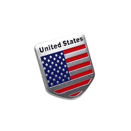 Amazon Generic Car Racing Sports Us Usa American Flag Shield