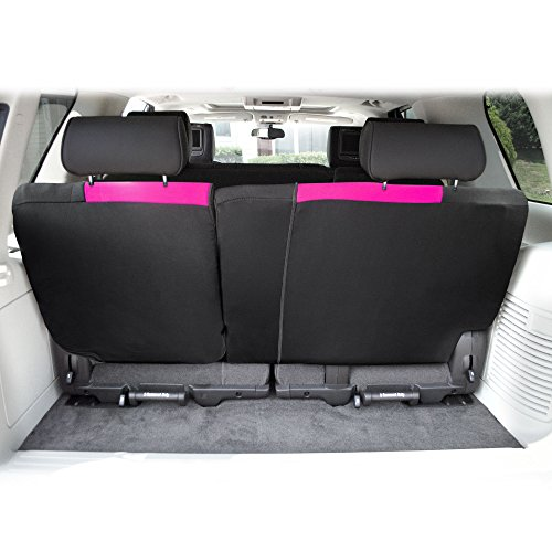 FH Group FB039013PINK Pink FB039PINK013 Multifunctional Cloth Split Seat (Full Coverage Car Bench Backrest is Covered on All Sides)