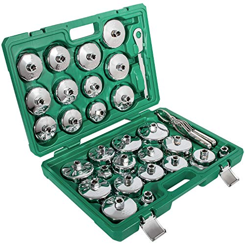 31 pcs Auto Oil Filter Wrench Socket Cup Type Cap Removal Tools Set by Sunluway (Image #7)