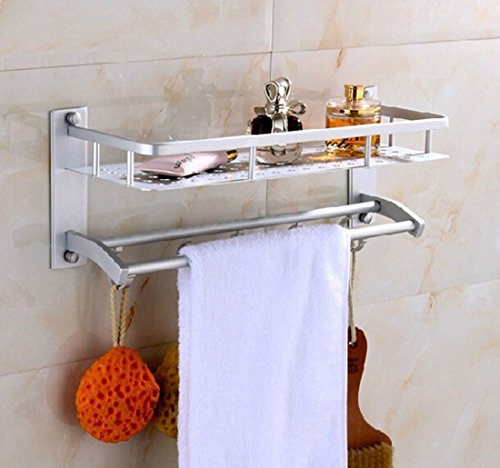 Decko Plastic Toilet Paper Holder (Corner Biz Bath - Space Aluminum Bathroom Towel Rack Holder Wall Storage Shelf)