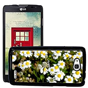 Hot Style Cell Phone PC Hard Case Cover // M00309107 Flower Nature Chamomile Green White // LG Optimus L90 D415