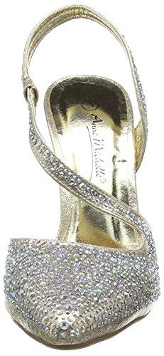 Tacco F9812 Scarpe Oro Oro Donna col On Gold Spot qv7SwZx