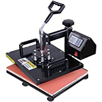 12x15 inch 5in1 Digital Heat Sublimation Transfer Press Machine 700W with Gloves for T-shirts Mouse Mats Jigsaw Puzzles Ceramic Tiles Coasters Place Mats