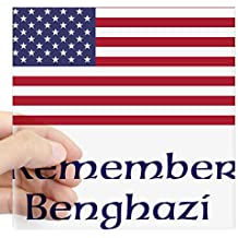 """CafePress - Remember Benghazi Sticker - Square Bumper Sticker Car Decal, 3""""x3"""" (Small) or 5""""x5"""" (Large)"""