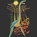 Loch Ness Plesiosaur Women's 2X-Large Charcoal Graphic T Shirt