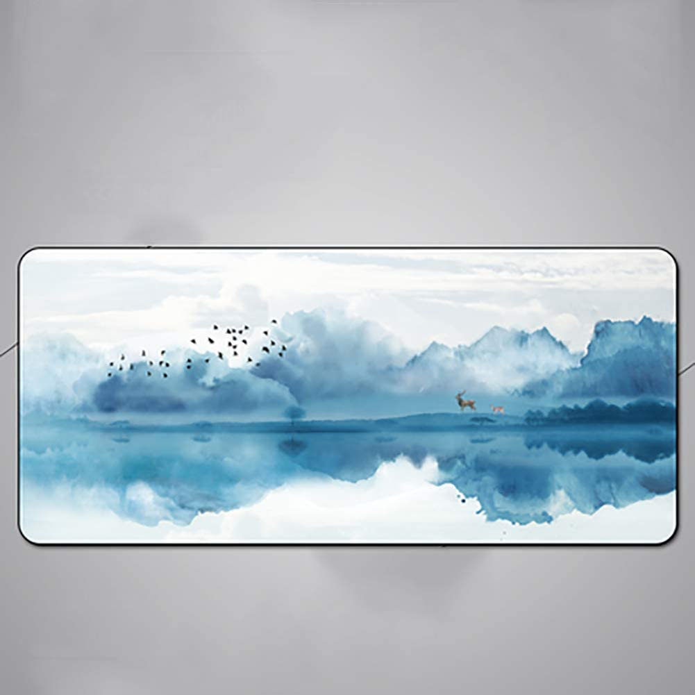 Easy Clean Rectangle Oversized Non-Slip Rubber Gaming Mouse Pads Keyboard pad-1 90x40cm Calendar Mousepad 35x16inch