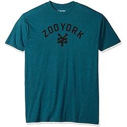 Zoo York Men's Short Sleeve Immergruen T-Shirt, Aqua Heather, X-Large
