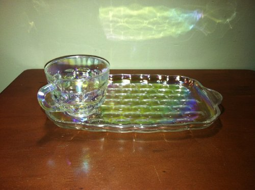 Federal Glass Snack (Vintage Carnival Glass Snack Trays)