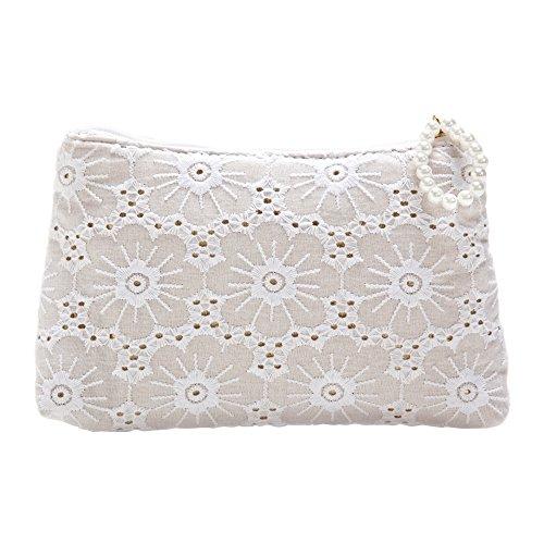 SABON Cosmetic Bag, White Lace