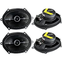 4) Kicker 41DSC684 D-Series 6x8 400 Watt 2-Way 4-Ohm Car Audio Coaxial Speakers