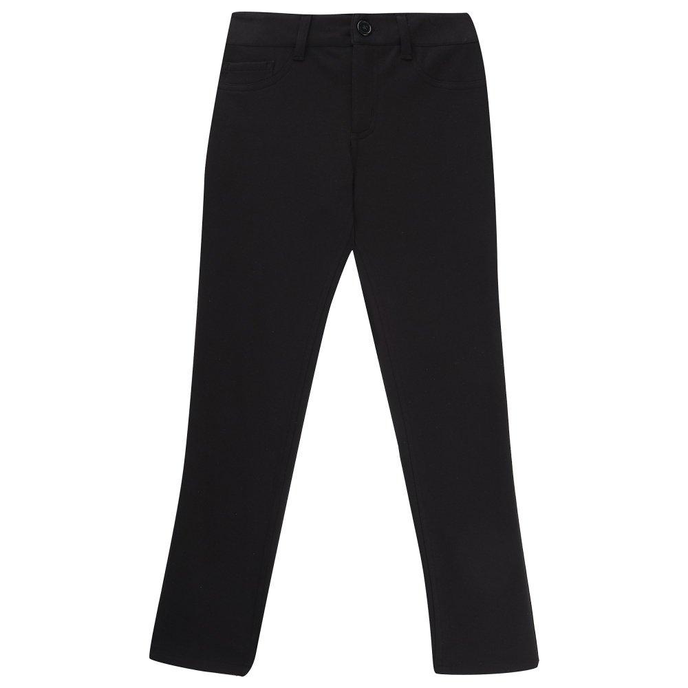 French Toast Big Girls' Skinny 5 Pocket Knit Pant, Black, 12