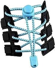 Elastic No Tie Shoelaces,Safety Reflctive Threads Adjustable Lock Tieless Shoe Laces,Night Walk Running Shoela