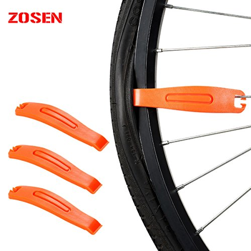 - ZOSEN Tire Levers Bicycle Nylon Tire levers Bicycle Tire Crowbar Bike Tyre Opener Tire Repair Tools Tire Pry Bar Bicycle Accessories Tyre Stick Plastic Levers Tire Patch Kit 3PCs