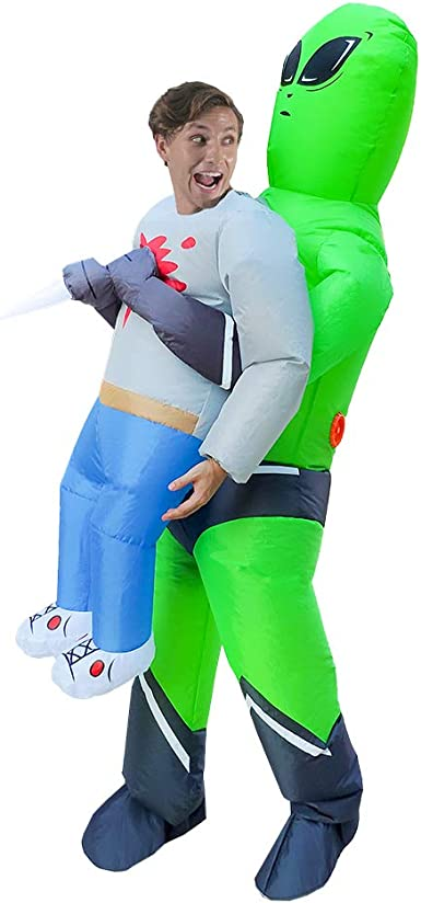 HORYEE Inflatable Alien Costume Adult Men Women Inflatable Costume Pick Me Up