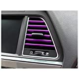 Siyibb Car Air Vent Decoration Moulding Trim Strip - Purple