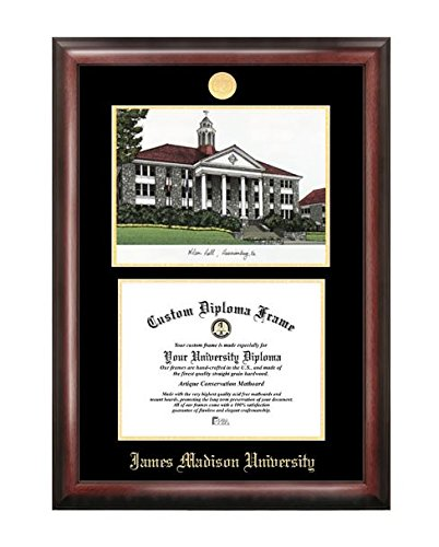 K&A Company Gold Embossed Diploma Frame With Lithograph - James Madison University