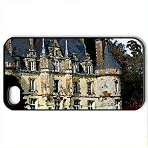 Vacation Home - Case Cover for iPhone 4 and 4s (Houses Series, Watercolor style, Black) by icecream design