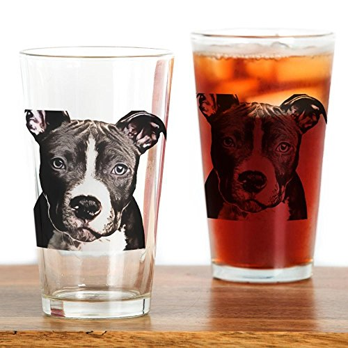 Pit Bull Beer (CafePress - Cartoon Pit Pup - Pint Glass, 16 oz. Drinking Glass)