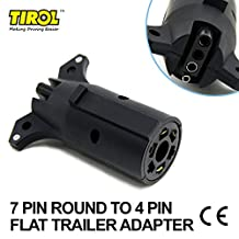 Tirol 7 Pin Round to 4 Pin Flat Trailer Adapter Trailer Light Plug Connector 12v Towbar Towing Adapter