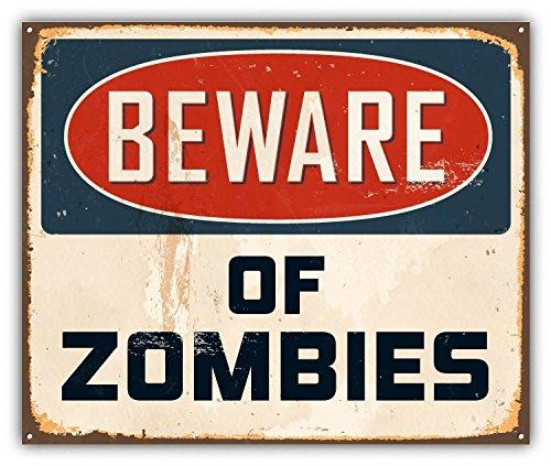 Beware Of Zombies Grunge Sign Alta Calidad De Coche De Parachoques Etiqueta Engomada 12 x 10 cm LivGroup