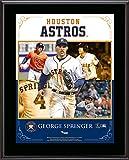 "George Springer Houston Astros Sublimated 10.5"" x 13"" Composite Plaque - Fanatics Authentic Certified"