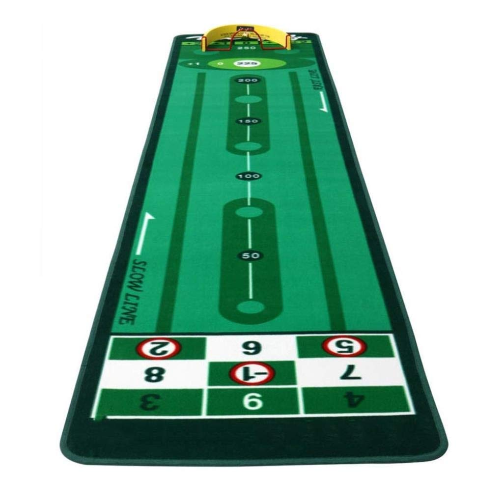 ゴルフパットパッド、シミュレーションパタートレーナーマットグリーンポータブルゴルフ練習毛布0.3m * 3m   B07SCL6P7X