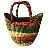 Large Yikene Shopper - Ghana Bolga Basket Fair Trade - 16''-19'' Across