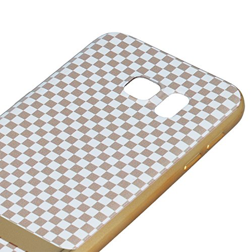 PLATING MUSTER Blöcke / Plating Blocks Für Apple iPhone 5 iPhone 5S iPhone 5G iPhone 5SE Etui Flip Cover Leder imitat Handy Tasche Hülle