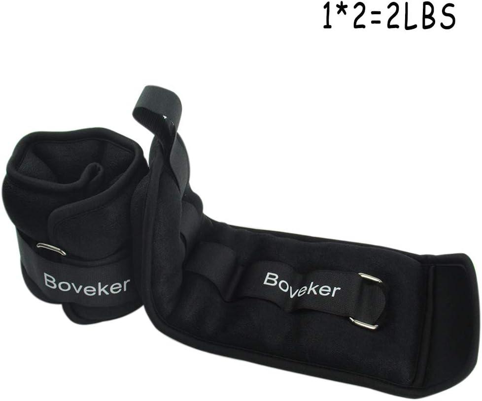Boveker Ankle Wrist Weights 1-10 lbs Pair Adjustable Strap for Men, Women, Kids – Resistance Training, Jogging, Walking, Aerobics