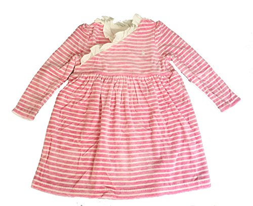 Velour Dress Set (Ralph Lauren Girl Long Sleeve Velour Dress Set 18 Month Pink Multi)