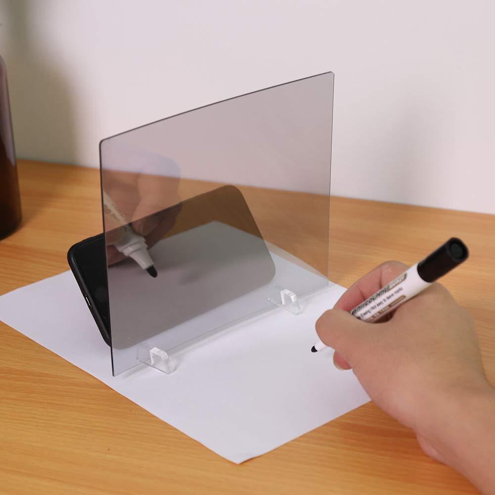 Eboxer LED Licht Stencil Board Licht Box Tracing Reiß brett Skizze Spiegel Reflexion Telefon Dimmen