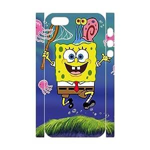 ANCASE Custom Color Printing SpongeBob Phone 3D Case For iPhone 5,5S [Pattern-5]