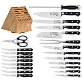 Messermeister-Made In Germany-Meridian Elite Premier Knife Block Set with Park Plaza Steak Knives, 23-Piece