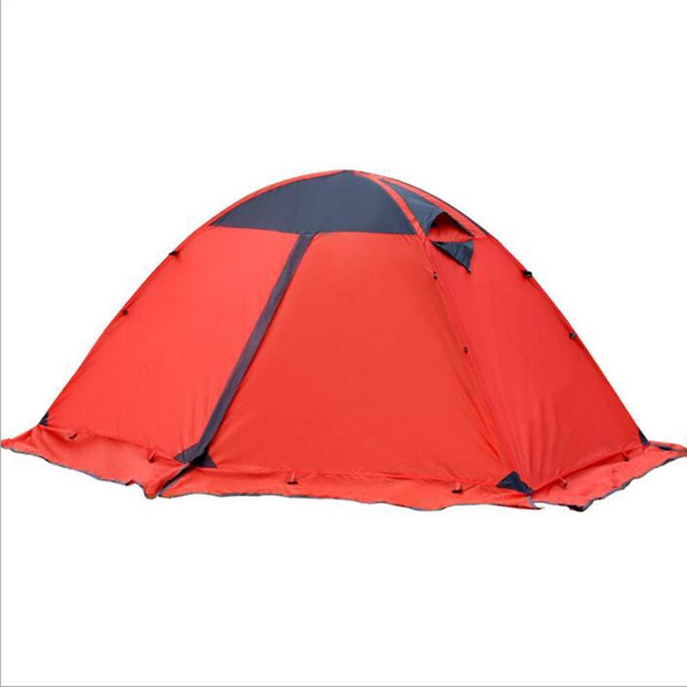 LSWGG Camping Zelt Doppel Outdoor Camping Doppel Aluminium Pole Winddicht Wasserdichte Ausrüstung