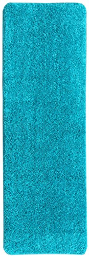Ottomanson Luxury Collection Blue Runner Rug with Non-Slip/Rubber-Backing Bath Rug, 20