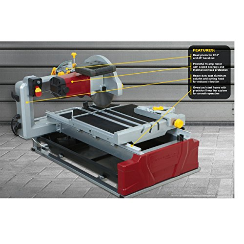 Review 2.5 HP Industrial Tile and Brick Saw with 10 inch Diamond Blade