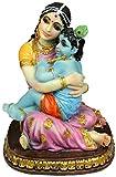 "Precious Yasoda Krishna Statue 5.25"" Hindu Mother Yashoda Figurine Golu Doll"